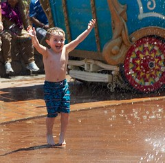 Cash Havin' a Blast at Magic Kingdom's Casey Jr. Splash Pad - 5.13 (meanderingmouse) Tags: travel disney cash magickingdom canonef24105mmf4lis