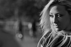 ValentinaV_11 (TRUDI.) Tags: light sunset portrait bw woman milan girl beautiful beauty smile bokeh milano bn blonde trudi ritratto luce biancoenero valentina portraitinblackandwhite