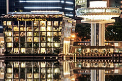 The Fullerton Bay Hotel (Mart2day (Quit and Bye)) Tags: urban reflection hotel bay singapore sony alpha fullerton nex sel18200