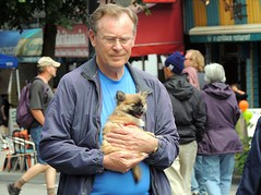 Man and his Dog (knightbefore_99) Tags: street city dog man vancouver puppy zoo friend bc sweet candid perro commercialdrive eastvan thedrive carfreedays