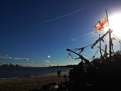 Driftwood Pirate Ship, New Brighton Beach (Cobain Schofield) Tags: pirateship newbrighton