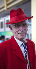 (Caitlin H. Faw) Tags: red portrait usa man smile hat arlington digital canon eos glasses virginia clothing airport gate flag teeth flight may honor tie suit jacket american va 5d departures attire markiii 2013 ronaldreagannationalairport honorflightnetwork caitlinfaw caitlinfawphotography
