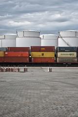 westhafen (kkaos_berlin) Tags: west berlin architecture germany deutschland harbour gas container hafen westhafen tanks gastanks