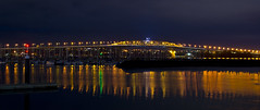 Auckland CBD and Harbour by night (markoneswift) Tags: city night canon long exposure sony 28mm auckland cbd fd nex