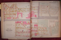 1905 Trenton map Plate 11 (rich701) Tags: old vintage newjersey map nj mercercounty 1905 trenton