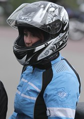helmet.... (71) (anjaschmidt1982) Tags: woman girl up closed helmet gear gloves biker heavy visor leathers shoei suited