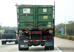 Rear Waste Management Roll Off Truck (Photo Nut 2011) Tags: california ford trash dumpster truck garbage junk f150 wm freeway waste refuse sanitation garbagetruck wastemanagement trashtruck wastedisposal rolloff