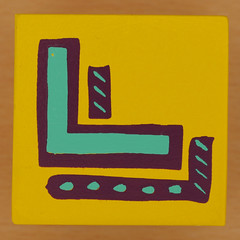 Bob and Roberta Smith Alphabet Block Letter L (Leo Reynolds) Tags: canon eos iso100 letter l 60mm f80 oneletter lll letterset 40d hpexif 0017sec grouponeletter xsquarex xleol30x xxx2013xxx