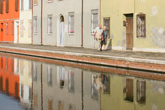 City Scenes (Kathy~) Tags: italy 2012 comacchio urban city people person gamewinner friendlychallenges instagram