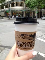 Seattle & Victoria, B.C., 2013 (jillianfay) Tags: seattle mocha espresso latte monorailespresso uploaded:by=flickrmobile flickriosapp:filter=nofilter whitemochalatte