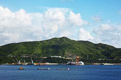 - the hills, the clouds and the sea (jdleung) Tags: blue sea cloud dock ship sigma           dp3m dp3merrill