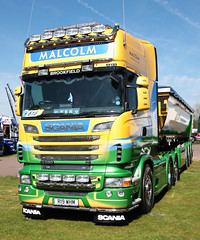 Malcolm Construction Scania R560 V8 R19 WHM Truckfest Peterborough 2013 (davidseall) Tags: uk truck construction malcolm large goods lorry vehicle heavy cambridgeshire v8 scania whm haulage truckfest topline r560 r19 2013 r19whm