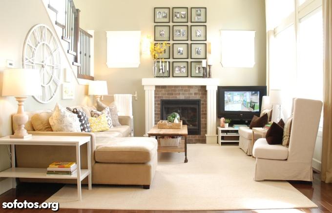 sala decorada apartamento pequeno