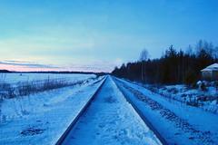 Railroad - Finland (iNepenthe) Tags: road railroad winter snow ice finland europe rail ala rauno tornio