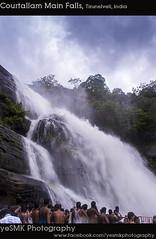 Courtallam Main Falls (Yesmk Photography) Tags: trees sky people india water clouds season main falls courtallam muthukumar yesmkphotography