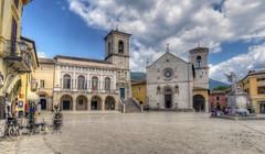 Norcia (Fil.ippo) Tags: panorama church square nikon cityscape sanbenedetto chiesa piazza hdr filippo umbria norcia nursia d7000 filippobianchi benecdict