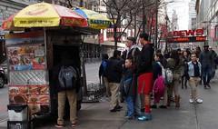 The World at a Hot Dog Stand (daisy70) Tags: stand hotdog manhattan 34thstreet dec sidewalk pedestrians 2013 daisy70 theworldatahotdogstand