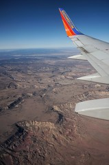 now this is more like it. (rovingmagpie) Tags: arizona southwest home phoenix airplane desert wing canyons mesas southwestairlines christmas2013