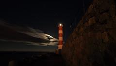 Le phare et la lune (Amanclos) Tags: longexposure cloud moon lighthouse france night clouds stars wind clear aude nuit phare longueexposition portlanouvelle efs1022 canoneos700d