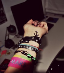 Anchor. (NickyJared) Tags: mars me tattoo photo crazy amazing cool nikon hand post depression anchor bracelets today nicky fool ancora