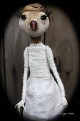 Faith polymer clay art doll (Sonia Dalga) Tags: sculpture bird art barn doll ooak clay sonia polymer dalga