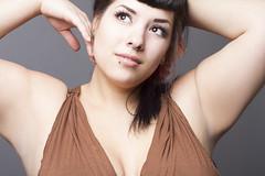 Kala (austinspace) Tags: portrait woman studio washington model spokane brunette pinup bettypage alienbees