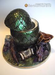 Dragon & Egg (Leggende Segrete) Tags: dragon ooak egg polymerclay leggendesegrete ileniamoreni