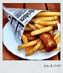Fish & Chips (hellwi) Tags: square polaroid frites pommes fisch frame rgen rahmen fishchips quadratisch mahlzeit hellwi freizeitknipser