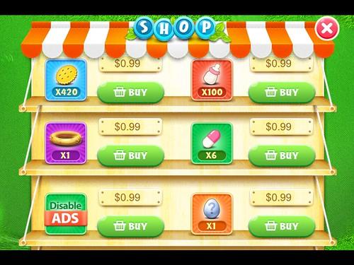 CarrotFantasy Virtual currency Bank: screenshots, UI