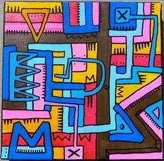 Sans Titre by Tarek (Pegasus & Co) Tags: urban streetart art colors painting graffiti artwork stencil paste arts picture dessin peinture menatwork worldwide rue couleur artistes  urbain tarek    gomtrique  geometrik urbart artistical       menatworkgirl