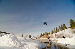 Warming up (AWDPWNZ) Tags: snow nature river snowboarding dc pond nikon colorado snowboard co breckenridge snowboarder snowboards doubles xgames skim breck