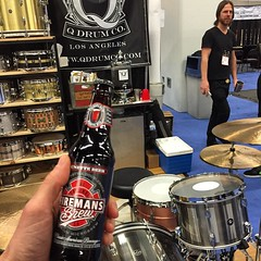 End of #namm2015. Thank you @firemansbrew and @jamescoffeeco for helping us get through this madness. This year was unreal. The crew is solid. @maxcuzor @gravyvspackage @eddie24d @rogerwk @dylanroadie @ilanrubin