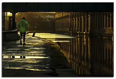 Floating (.Wadders) Tags: water sunrise canal yorkshire ngc saltaire leedsliverpoolcanal d600 nikonfxshowcase