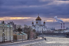Thunder cloud (vadimmokin) Tags: city bridge color castle church clouds river nikon cross russia moscow bank roofs cupola nikkor riverbank lovelycity streetofmine nikond610