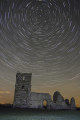 Knowlton Church Star Trails (mpelleymounter) Tags: longexposure timelapse nightscape january dorset nightsky startrails 2015 knowltonchurch dorsetnightsky kowltonchurchstartrails