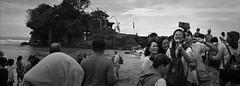 Selfie Family (Bert Pot) Tags: ocean travel sea bw bali panorama film analog indonesia temple seaside kodak pano trix streetphotography hasselblad hinduism xpan f4 45mm 400asa reportage selfie travelphotography tanalot republicofindonesia bertpot xpanll