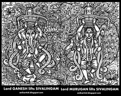 Lord GANESH and Lord MURUGAN lifts SIVALINGAM - Doodle Art by Anikartick,Chennai,TamilNadu,India (chennaiartistworks) Tags: art illustration painting artist drawing drawings master doodle doodles chennai siva lingam lordganesha lordganesh artteacher drawingclass shivalingam doodleart lordshiva lordmurugan lordsiva sivalingam pillaiyar paintingclass godshiva artmaster lordmuruga artdoodle lordganapathi chennaiartist tamilartist doodledrawing doodlesketch tamilart godmurugan chennaiart doodleartist freehanddrawings tamilpaintings tamilanart chennaidoodle tamilpainter lordganpathi lordsivan godgapathi godpillaiyar