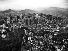 Korea: The View from N Seoul Tower 2 (Jon-F, themachine) Tags: travel vacation asia sony korea seoul trips pointandshoot southkorea  highplaces 2014     highviews   jonfu snapseed dscwx70
