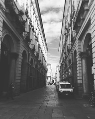 Architektur (alessandrasodero) Tags: torino strada italia architektur biancoenero palazzi gasse vechi cartafotografica2016 kulturtage2016