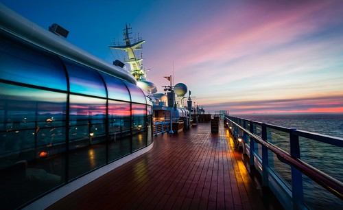 We took a family cruise to Alaska and it was amazing! Here's the view from the top deck one evening before we all went to dinner together.