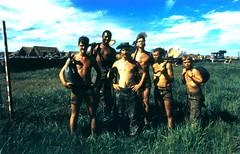 H Co, 2d Battalion, 5th Marines, Sand Bag Detail, 1969 (Marine Corps Archives & Special Collections) Tags: marine war vietnam corps marines