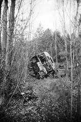 School Bus, Pripyat (St Prie) Tags: 35mmfilm ilfordhp5plus400 vivitarultrawideandslim vuws