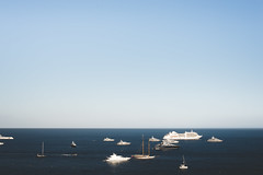 Yachts, Yachts Everywhere. (eric.vanryswyk) Tags: ocean sea sky abstract france water horizontal landscape boats 50mm bay harbor boat spring nikon mediterranean waves ship gulf harbour yacht ships monaco clear carlo monte yachts nikkor f18 rule everywhere thirds waterscape d610 monacoville