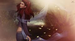 EJ~How happiness looks like... (Skip Staheli (Clientlist closed)) Tags: veil avatar butterflies redhead sl digitalpainting secondlife romantic dreamy virtualworld frisland skipstaheli