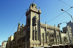 Melbourne Flinders St 150-162 , 1982 20thC offices slides folder sheet 09  041 (Graeme Butler) Tags: architecture culture decoration events heritage history industry melbourne victoria australia