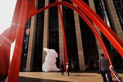 Big Bunny is watching. Intrude Exhibit by Amanda Parer (redshutterbugg) Tags: bunny art love afternoon intrude downtownlosangeles ilovela 500px welovela discoverla fujifilmxworld fujifilmxseries amandaparer fujifilmxt10
