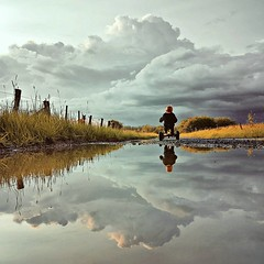 The Little Journey   #benheinephotography #quickpic #theo #silhouette #ownthetwilight #smartphonepic #journey #nature #reflection #path #clouds #beauty #picoftheday #photooftheday #photography #country #belgium (Ben Heine) Tags: voyage travel nature childhood clouds square countryside child belgium tricycle journey squareformat nuage ballad ballade enfance iphoneography instagramapp uploaded:by=instagram