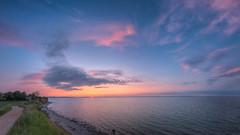 Brodtener Steilufer (LB-fotos) Tags: ocean sunset sea sun seascape beach germany landscape deutschland coast colorful meer sonnenuntergang angle wide baltic fisheye 8mm landschaft sonne ostsee holstein kste schleswig