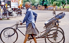 Agra, come in, have a ride (gerard eder) Tags: world travel people india bicycle asia traffic tricycle taxi south transport agra rickshaw indien reise transporte trafico southasia vekehr