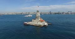 Kz Kulesi fom the air (CyberMacs) Tags: sea tower turkey trkiye istanbul bosphorus boaz byzantium kz kzkulesi kulesi skdar leanderstower byzantinearchitecture mdchenturm leanderturm towerofleandros